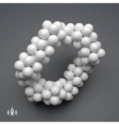 3d molecule structure technology style vector