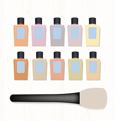 Set of realistic foundation different colors and vector