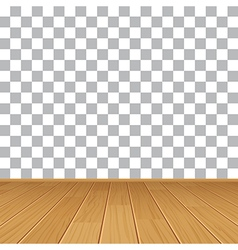 Wood table top on isolated background vector
