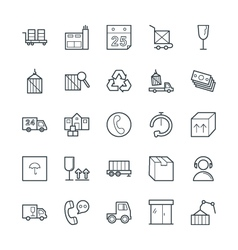 Logistic delivery cool icons 3 vector
