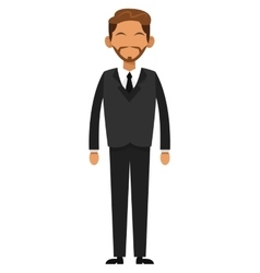 Tan businessman with beard icon vector