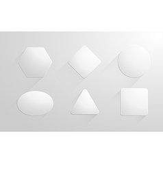 Abstract geometric shapes white papers label vector