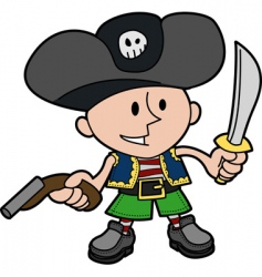 boy in pirate costume vector image vector image