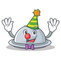 Clown tray character cartoon style vector