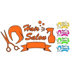 colorful isolated hair salon icons vector image vector image