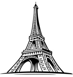 Eiffel tower paris symbol france vector