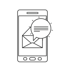 Envelope and smartphone of communication design vector