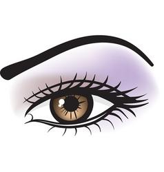Female brown eye vector