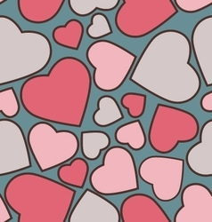 Funny hearts seamless pattern for Valentines day vector image
