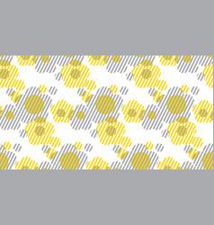 Geometry shape flowers vector