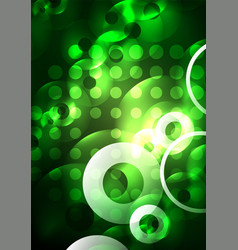 glowing circles in the dark vector image