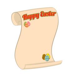 Happy easter congratulatory scroll vector
