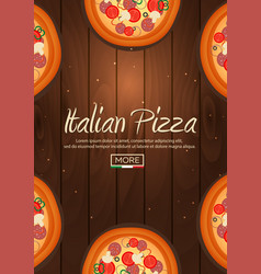 italian pizza poster fast food flat vector image
