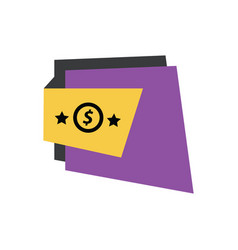 Label design star purple yellow black vector