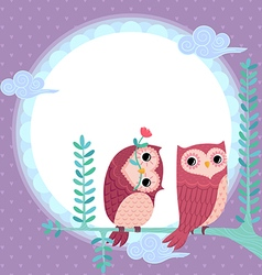 Lovely owls vector