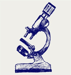 Microscope sketch vector image
