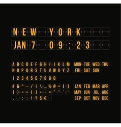 Outline countdown timer and date flat calendar vector