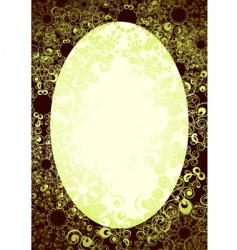 oval background vector image