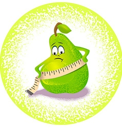 pear and measuring range vector image
