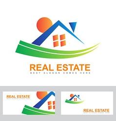 Real estate house abstract logo vector