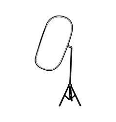 Reflector for photography icon outline style vector