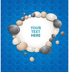 sea background with stones and copy-space for text vector image