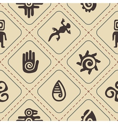 Seamless background with Mexican relics dingbats vector image