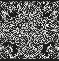 seamless ethnic pattern with mandala vector image