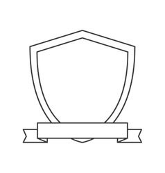 shield ribbon banner design vector image vector image