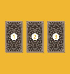 Three tarot card spread reverse side vector