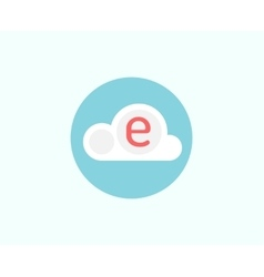 Web cloud business icon Web storage creative vector image vector image