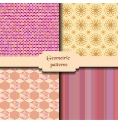 Geometric abstract seamless patterns delicate vector