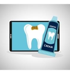 Dental healthcare online icon vector