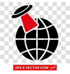 Alien Visit Eps Icon vector image