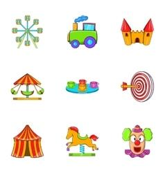 Swing icons set cartoon style vector