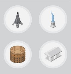 Isometric attraction set of paris new york vector