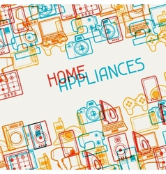 Home appliances and electronics background vector
