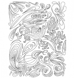 paisley doodles vector image