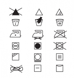 Fabric care symbols vector