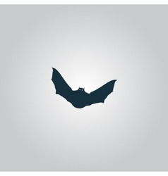 Bat icon vector