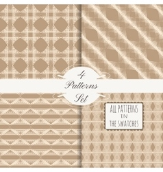 4 patterns set 6 vector image