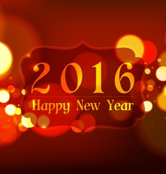 Happy new year 2016 on bokeh light red background vector
