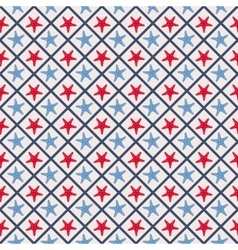 Seamless pattern with cross lines and starfish vector