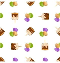 Happy easter seamless pattern flat icons spring vector