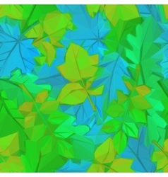 Summer leaves low poly vector
