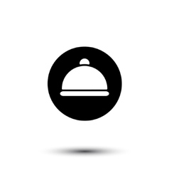 White cloche icon vector