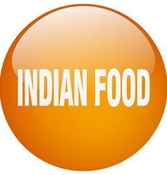 Indian food orange round gel isolated push button vector