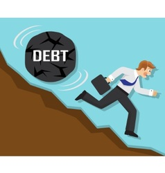 debt and failure in business vector image
