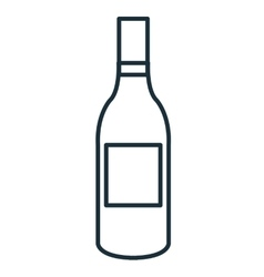 Delicious and traditional wine bottle vector