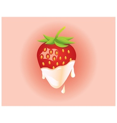 Strawberry and cream vector